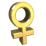 Símbolos de sexo fêmea (3D) Fotografia de Stock Royalty Free