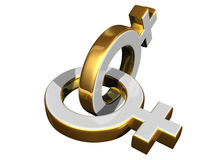 Símbolos de sexo femenino Foto de archivo libre de regalías