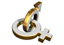 Símbolos de sexo masculino y femenino Imágenes de archivo libres de regalías