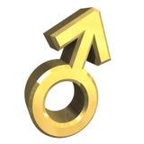 Símbolos de sexo masculinos (3D) Fotos de archivo libres de regalías