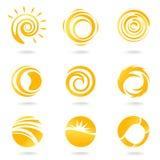Símbolos de Sun ilustração royalty free