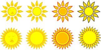 Símbolos de Sun Ilustração Stock