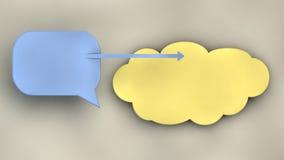 Símbolos de uma comunicação Foto de Stock