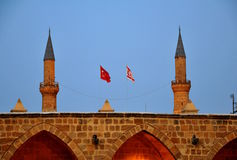 Símbolos de una media luna del turco e indicadores de Turquía Imágenes de archivo libres de regalías