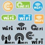 Símbolos de Wi-Fi Imágenes de archivo libres de regalías