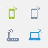 Símbolos de WiFi - ícones do granito ilustração do vetor