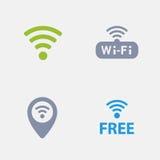 Símbolos de WiFi - ícones do granito ilustração royalty free
