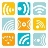Símbolos de WiFi Fotos de Stock Royalty Free
