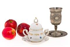 Símbolos del Año Nuevo judío imagenes de archivo