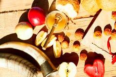Símbolos del Año Nuevo judío Foto de archivo