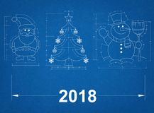 Símbolos del Año Nuevo - modelo 2018 Foto de archivo
