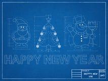 Símbolos del Año Nuevo - modelo Fotografía de archivo libre de regalías