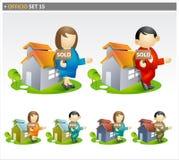 Símbolos del agente inmobiliario ilustración del vector