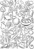 Símbolos del alimento Foto de archivo libre de regalías