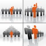 Símbolos del asunto teamplay stock de ilustración