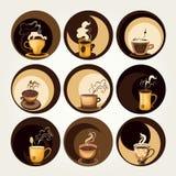 Símbolos del café y del té ilustración del vector