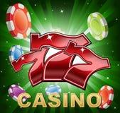 Símbolos del casino Imágenes de archivo libres de regalías