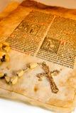 Símbolos del católico del estilo de Grunge Imagenes de archivo