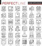 Símbolos del concepto del esquema de los aparatos electrodomésticos mini libre illustration