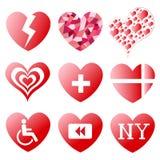 Símbolos del corazón Imagen de archivo