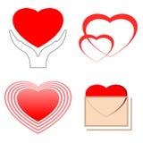 Símbolos del corazón Stock de ilustración