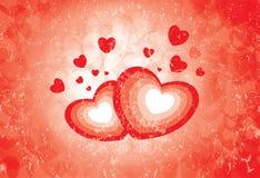 Símbolos del corazón que muestran la emoción del amor Imagen de archivo libre de regalías