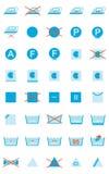 Símbolos del cuidado de la ropa Imagen de archivo