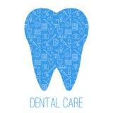 Símbolos del cuidado dental en la forma de los dientes Imágenes de archivo libres de regalías
