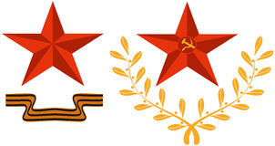 Símbolos del día de la victoria stock de ilustración