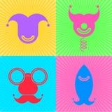 Símbolos del día de los tontos Imágenes de archivo libres de regalías