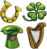 Símbolos del día de Patricks del santo Fotografía de archivo