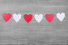 Símbolos del día de tarjetas del día de San Valentín Fotografía de archivo libre de regalías
