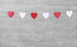 Símbolos del día de tarjetas del día de San Valentín Fotos de archivo libres de regalías