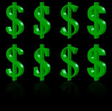 símbolos del dólar 3D Imagen de archivo