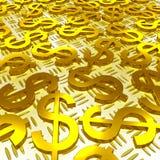 Símbolos del dólar sobre la inversión del americano de las demostraciones de piso stock de ilustración