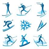 Símbolos del deporte de invierno Fotografía de archivo libre de regalías
