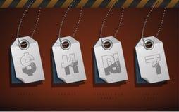 Símbolos del dinero Imagenes de archivo