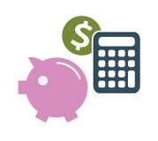 Símbolos del dinero del ahorro del dólar Fotos de archivo libres de regalías