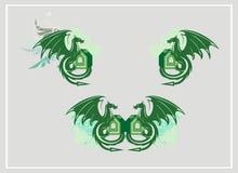 Símbolos del dragón Imagen de archivo libre de regalías