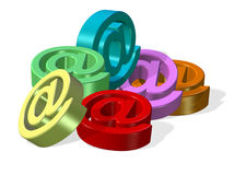 Símbolos del email Imagen de archivo libre de regalías