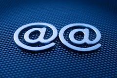 Símbolos del email Imágenes de archivo libres de regalías