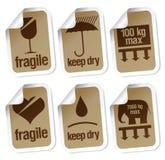Símbolos del embalaje Fotos de archivo libres de regalías