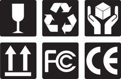 Símbolos del embalaje Imagen de archivo