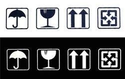 Símbolos del embalaje Stock de ilustración