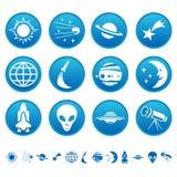Símbolos del espacio Fotos de archivo libres de regalías