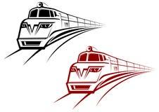 Símbolos del ferrocarril y del subterráneo Fotos de archivo libres de regalías