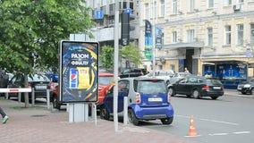 Símbolos del final 2018 de la liga de campeones de UEFA en Kiev, Ucrania, almacen de metraje de vídeo