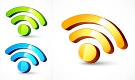 Símbolos del formato de la alimentación del Web en 3D stock de ilustración