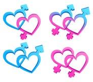 Símbolos del género. Fotos de archivo libres de regalías