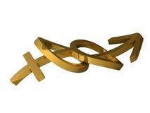 símbolos del género de la boda 3d Fotografía de archivo libre de regalías
